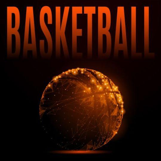 Basketball geometric illustration vector