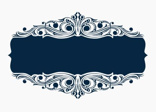 Beautiful blue floral frame vector 01 - Vector Floral ...