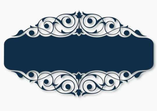 Beautiful blue floral frame vector 02 - Vector Floral ...