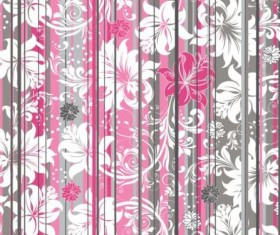 Beautiful flower curtain effect background vector
