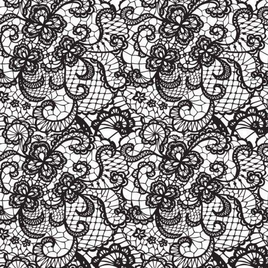Beautiful Lace Black Pattern Vector 10 Free Download