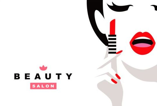Beauty Background With Fashion Style Vector 02 Free Download