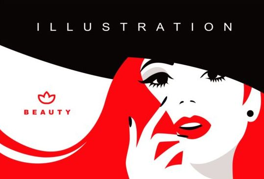 Beauty Background With Fashion Style Vector 06 Free Download