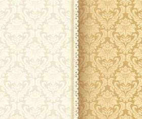 Beige vintage floral background vector 01