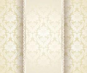 Beige vintage floral background vector 02