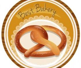 Best bakery label design vector