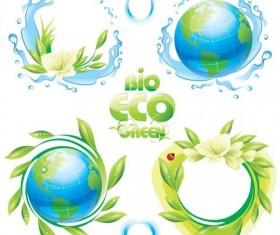 Bio eco illustration vectors