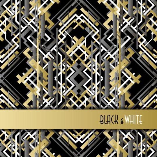 Black and white retro luxury background vector 01
