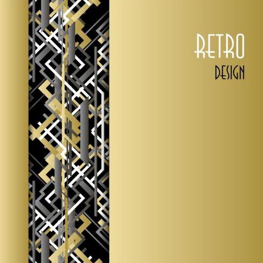 Black and white retro luxury background vector 04