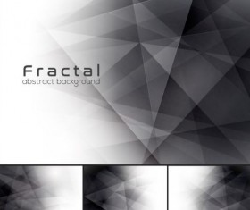 Black fractal abstract background vector