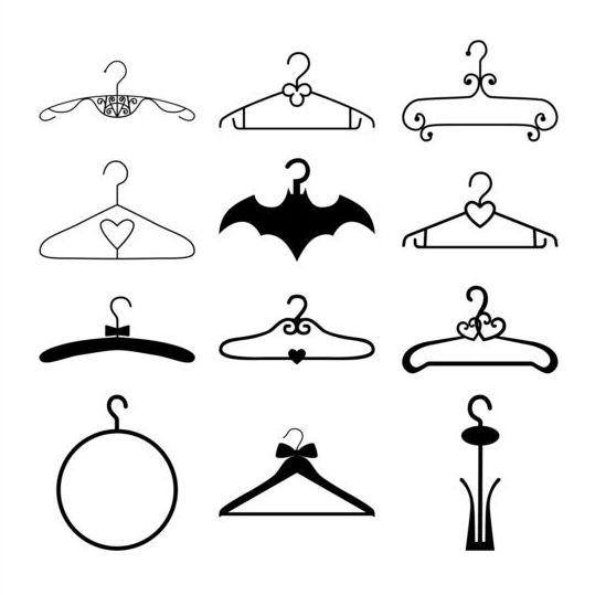 Black hanger vector material 02