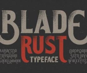 Blade rust typeface vector