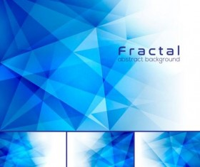 Blue fractal abstract background vector