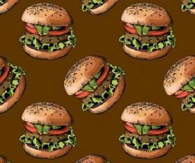 Burger pattern seamless vector 02