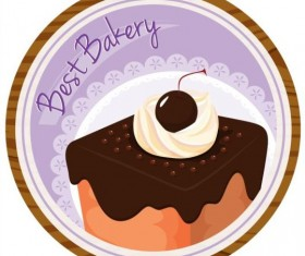 Cake wood label vector