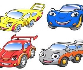 Cartoon car race vector
