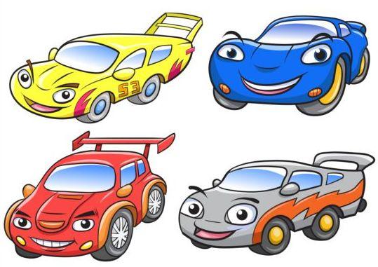 cartoon car race vector vector car free download. Black Bedroom Furniture Sets. Home Design Ideas