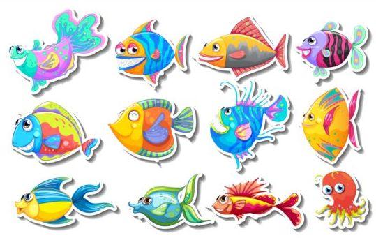 Cartoon Fish Stocker Vector 02 Vector Animal Vector