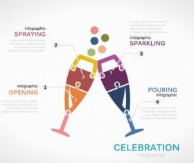 Celebration infographics template vector