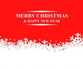 Christmas snow with red background vector