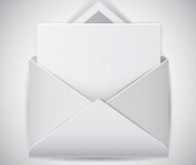 Clear e-mail icon vector