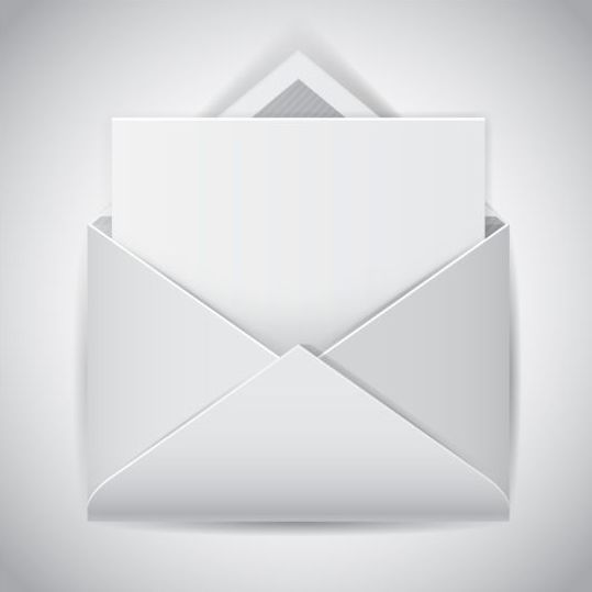 Clear e mail icon vector