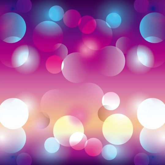 Colored circle with blurred background vector 05
