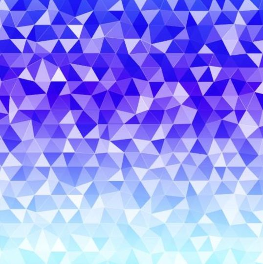 Colored polygon with blurred background vector 02