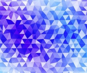 Colored polygon with blurred background vector 16