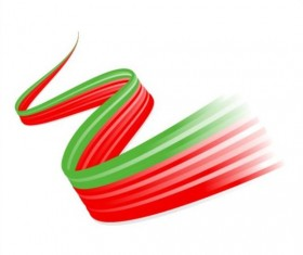 Colored ribbon abstract background vector 05