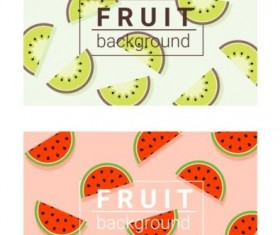 Colorful background with fruits vector 02