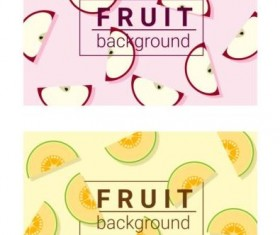 Colorful background with fruits vector 03