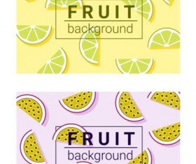 Colorful background with fruits vector 04
