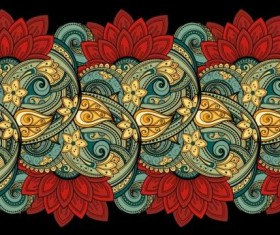 Contour floral lace vector material