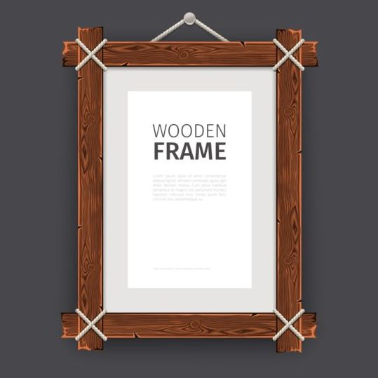 Creative wooden photo frames vector set 02 free download