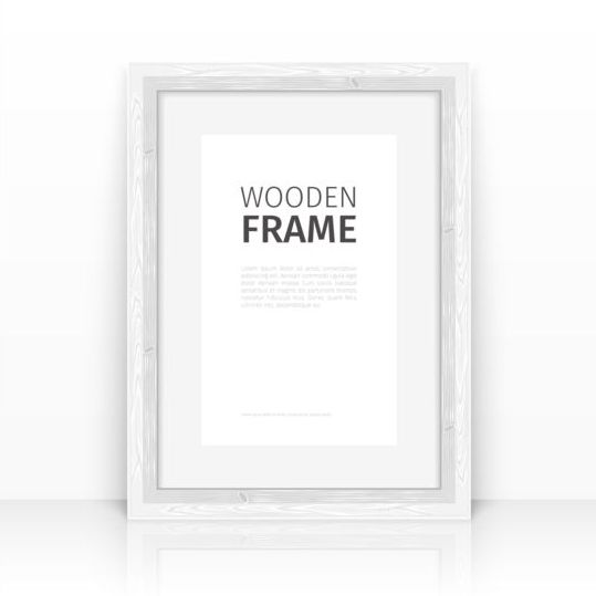 Creative wooden photo frames vector set 11 free download