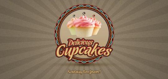 Cupcake Logo PSD