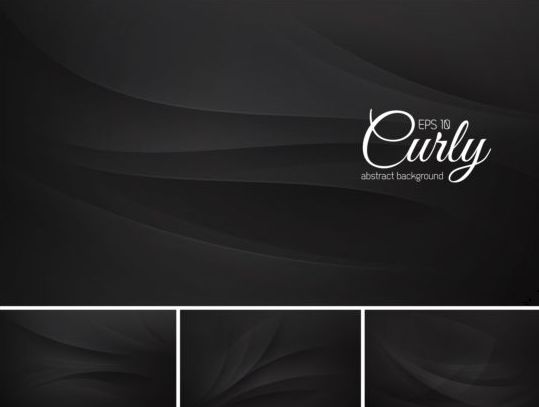 Curves abstract background vectors set 01