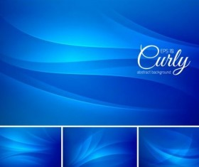 Curves abstract background vectors set 02