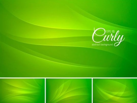Curves abstract background vectors set 03