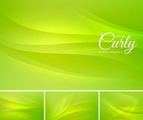 Curves abstract background vectors set 04