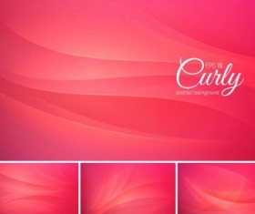Curves abstract background vectors set 05