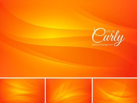 Curves abstract background vectors set 06