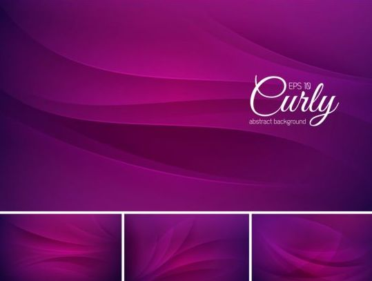 Curves abstract background vectors set 07
