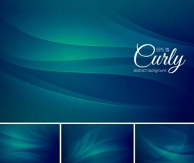 Curves abstract background vectors set 10