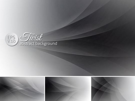 Curves abstract background vectors set 13