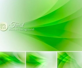 Curves abstract background vectors set 15