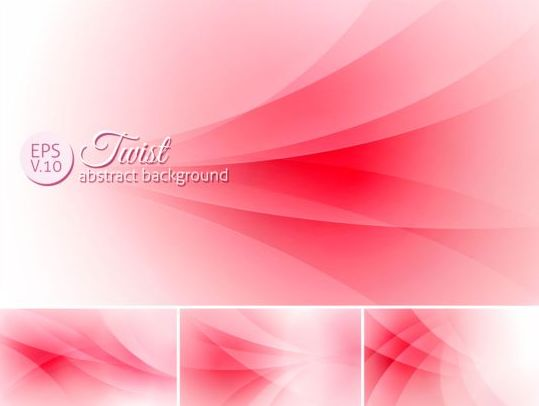 Curves abstract background vectors set 16