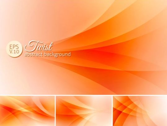 Curves abstract background vectors set 17