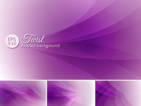 Curves abstract background vectors set 18